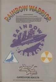 Advert for Rainbow Warrior on the Commodore 64.