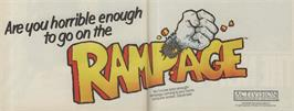 Advert for Rampage on the Commodore 64.