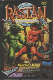 Advert for Rastan on the Sega Master System.