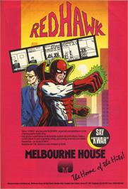 Advert for Red Hawk on the Commodore 64.