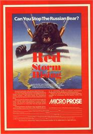 Advert for Red Storm Rising on the Commodore 64.