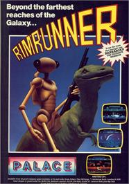Advert for Rimrunner on the Commodore 64.