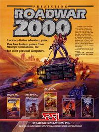 Advert for Roadwar 2000 on the Commodore 64.