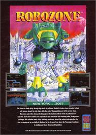 Advert for Robozone on the Commodore 64.