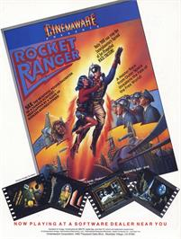 Advert for Rocket Ranger on the Commodore 64.