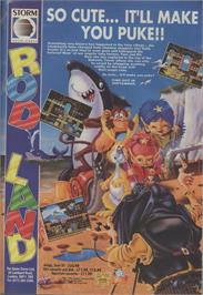 Advert for Rodland on the Commodore Amiga Demos.