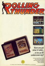 Advert for Rolling Thunder on the Commodore 64.