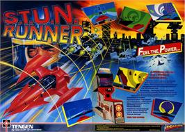 Advert for S.T.U.N. Runner on the Commodore 64.