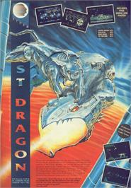 Advert for Saint Dragon on the Commodore 64.