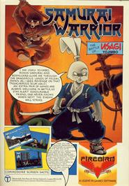 Advert for Samurai Warrior: The Battles of Usagi Yojimbo on the Commodore 64.