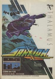 Advert for Sanxion on the Commodore 64.