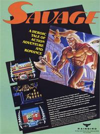 Advert for Savage on the Commodore Amiga.