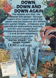 Advert for Scuba Dive on the Commodore 64.
