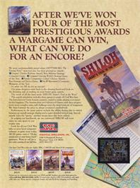 Advert for Shiloh: Grant's Trial in the West on the Atari 8-bit.