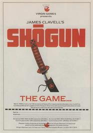 Advert for Shogun on the Commodore 64.