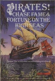 Advert for Sid Meier's Pirates! on the Commodore 64.