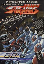 Advert for Side Arms Hyper Dyne on the Commodore 64.