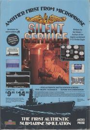 Advert for Silent Service on the Commodore 64.