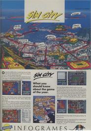 Advert for SimCity on the Commodore 64.