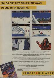Advert for Ski or Die on the Commodore 64.