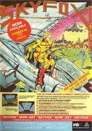 Advert for Skyfox II: The Cygnus Conflict on the Atari ST.