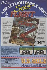 Advert for Solo Flight on the Commodore 64.