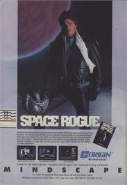 Advert for Space Rogue on the Commodore 64.