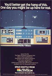 Advert for Space Shuttle: A Journey into Space on the MSX 2.