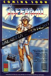 Advert for Speedball on the Commodore 64.