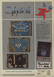 Advert for Spherical on the Commodore 64.