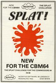 Advert for Splat! on the Commodore 64.