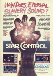 Advert for Star Control on the Sega Genesis.
