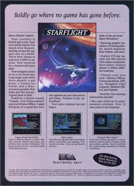 Advert for Starflight on the Microsoft DOS.