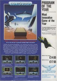 Advert for Starglider on the Atari ST.