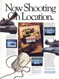 Advert for Steel Thunder on the Commodore 64.