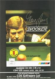 Advert for Steve Davis Snooker on the Commodore Amiga Demos.