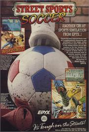 Advert for Street Sports Soccer on the Commodore 64.