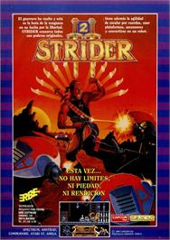 Advert for Strider 2 on the Commodore 64.