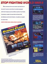 Advert for Strike Fleet on the Commodore 64.
