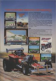 Advert for Stunt Car Racer on the Commodore 64.