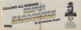 Advert for Super Hang-On on the Commodore 64.