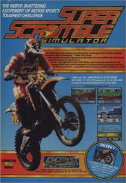 Advert for Super Scramble Simulator on the Commodore 64.