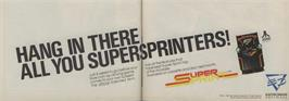 Advert for Super Sprint on the Commodore 64.