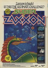 Advert for Super Zaxxon on the Commodore 64.