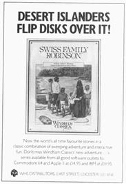Advert for Swiss Family Robinson on the Apple II.