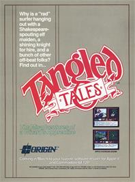 Advert for Tangled Tales on the Commodore 64.