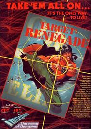 Advert for Target: Renegade on the Commodore 64.