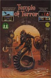 Advert for Temple of Terror on the Commodore 64.