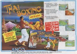 Advert for Thai Boxing on the Commodore Amiga.