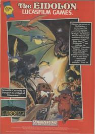 Advert for The Eidolon on the Commodore 64.
